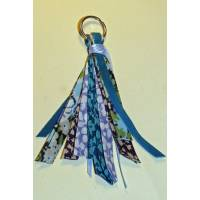 Porte clefs bijou de sac Liberty of London Patchwork bleu