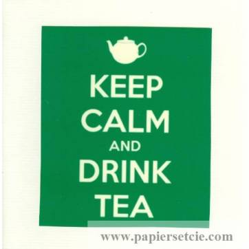"Carte ""Keep Calm and Drink Tea"""