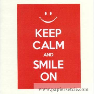 "Carte ""Keep Calm and Smile On"""