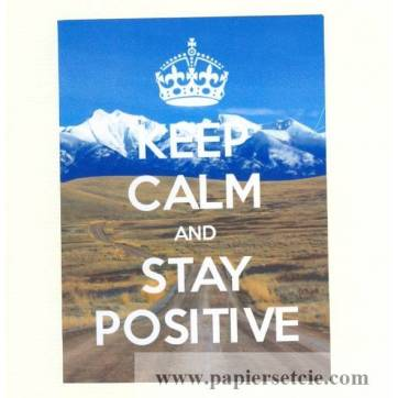 """Carte """"Keep Calm and Stay Positive"""""""