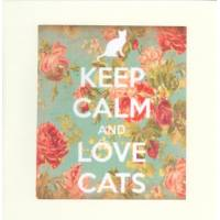 """Carte """"Keep Calm and Love Cats"""""""
