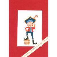 Carte double rectangulaire Bon Anniversaire Pirate Jack