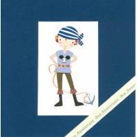 Carte double carrée Bon Anniversaire Pirate Noé
