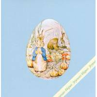 Carte double Pâques Peter Rabbit au Jardin
