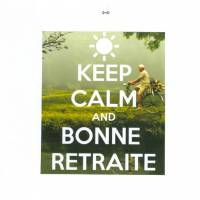 "Carte ""Keep Calm and Bonne retraite "" Vélo"
