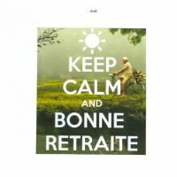 """Carte """"Keep Calm and Bonne retraite """" Vélo"""