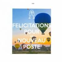 Carte Félicitations pour le nouveau poste thème Montgolfières