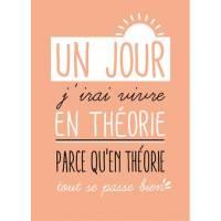"""Carte citation """"Un jour j'irai vivre en Théorie..."""""""