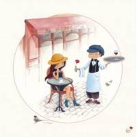 """Carte Marie Cardouat Les petits Parisiens """"Le Bistrot"""""""
