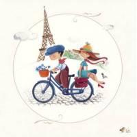 """Carte Marie Cardouat Les petits Parisiens  """"La Tour Eiffel"""""""