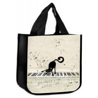 Sac Cabas Chat jouant du piano