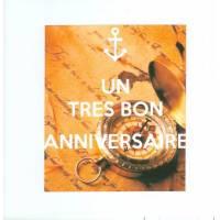"""Carte KC """"Un Très bon Anniversaire"""" Boussole"""