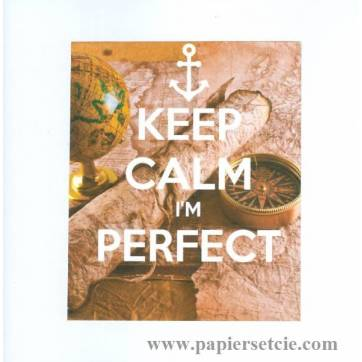 "Carte ""Keep Calm I'm perfect"" Marine"