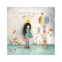 "Calendrier 2017 16 x 16 Mila ""Follow your dreams"""