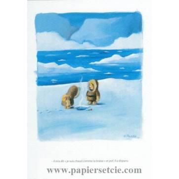 Carte humoristique Olivier Tallec Les Esquimaux