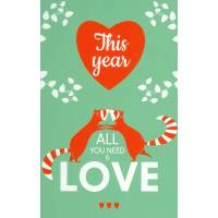 "Carte Alice de Page ""This Year all you need is love"""