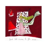 Carte Anne-Sophie Rutsaert Quand Noël s'annonce...