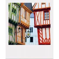 Carte format Polaroïd Frédéric Buxin Vannes, Maisons à colombages