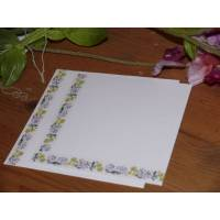 Set de cartes de correspondance Aquarelle Fleurs de Chicorée