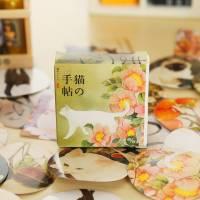 Stickers pour scrapbooking en boite Chats et Fleurs