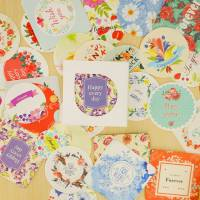 Stickers pour scrapbooking en boite Happy Days à messages