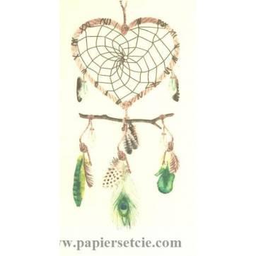 Carte artisanale Attrape-Rêves Vert