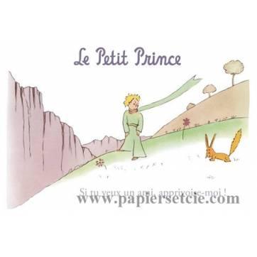 """Carte Le Petit Prince """"Si tu veux un ami, apprivoise-moi"""""""