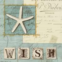 Carte vintage Journal de Plage Wish