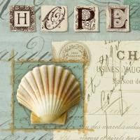 Carte vintage Journal de Plage Hope