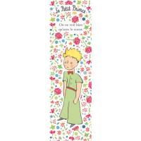 """Marque-Pages Petit Prince """"On ne voit bien qu'avec le coeur"""" Fleurs roses"""