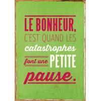 """Carte Humour Vintage """"Le Bonheur c'est quand..."""""""