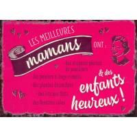 """Carte Humour Vintage """"Les meilleures Mamans ont des enfants heureux""""!"""