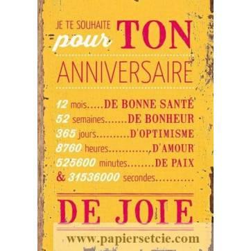Carte Citation Humour Vintage Je Te Souhaite Pour Ton Anniversaire