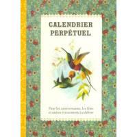 Calendrier d'anniversaires perpétuel Gwenaëlle Trolez Oiseaux
