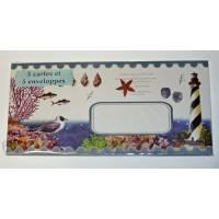 """Paquet de 5 cartes et enveloppes Gwenaëlle Trolez """"Bord de Mer"""""""