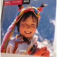 "Calendrier 2018 30 x 30 ""Sourires"" d'Olivier Föllmi"