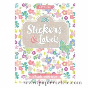 Carnet de Stickers et etiquettes pour scrapbooking Fleurs
