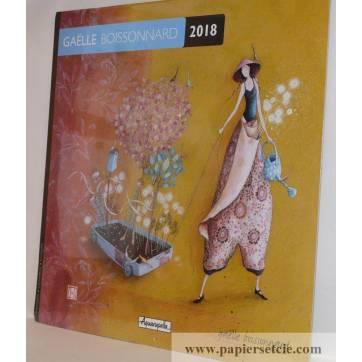 """Calendrier 2018 30 x 30 Gaëlle Boissonnard """"Le chariot fleuri"""""""