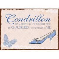 """Carte Humour Vintage """"Cendrillon est la preuve..."""""""