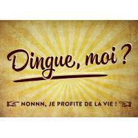 """Carte Humour Vintage """"Dingue, moi? Nonnn, Je profite de la vie!"""""""