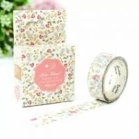 Masking Tape Washi Tape Celia Fines fleurs roses