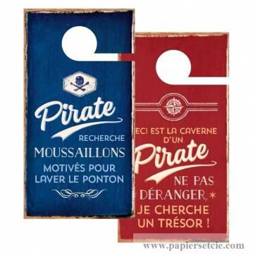 "Pancarte Panneau de Porte Humoristique ""Pirate"""