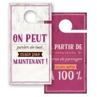 """Pancarte Panneau de Porte Humoristique """"On peut parler de Tout"""""""