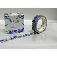 Masking Tape Washi Tape aquarelle Liserons bleus
