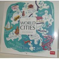 "Calendrier 2018 LEGAMI 30 x 30 ""World cities"""