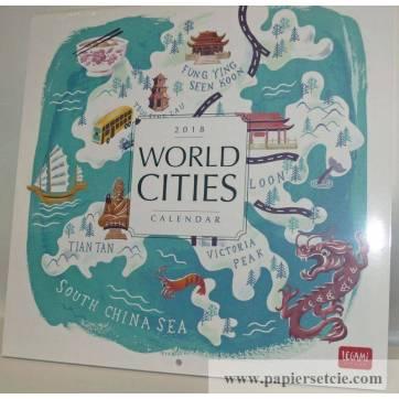 "Calendrier 2018 LEGAMI 30 x 30 ""World cities"""
