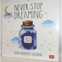 "Calendrier 2018 LEGAMI 30 x 30 ""Never stop dreaming"""