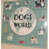 "Calendrier 2018 LEGAMI 30 x 30 ""Dog's World"""