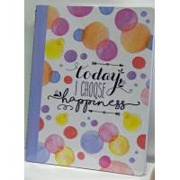 "Cahier LEGAMI B5 ""To day I choose Happiness"" 100 pages"