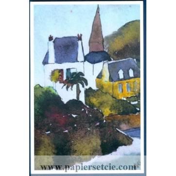 Carte Marion Kerignard Belle Ile Eglise et Palmier